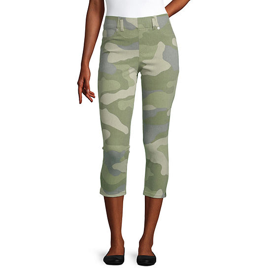 Mixit Womens Crop Camo Leggings