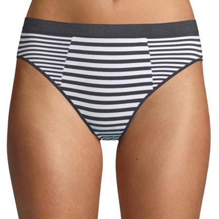 Ambrielle Seamless High Cut Panty 12p017, Large , Multiple Colors