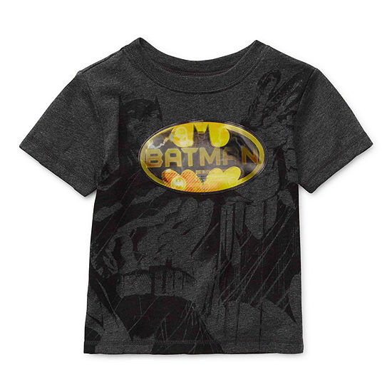 Lenticular-Toddler Boys Crew Neck Batman Short Sleeve Graphic T-Shirt