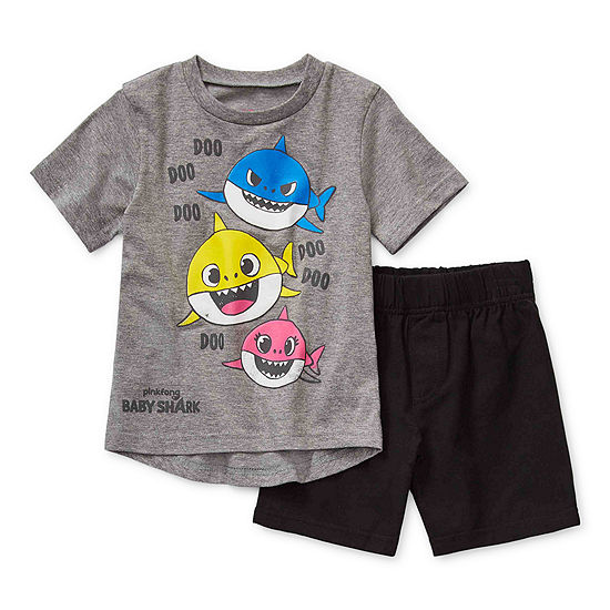 Pinkfong Boys 2-pc. Baby Shark Short Set Toddler