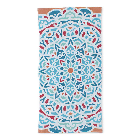 Outdoor Oasis Medallion Beach Towel