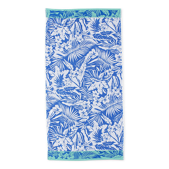 Outdoor Oasis Tropical Leaves Beach Towel