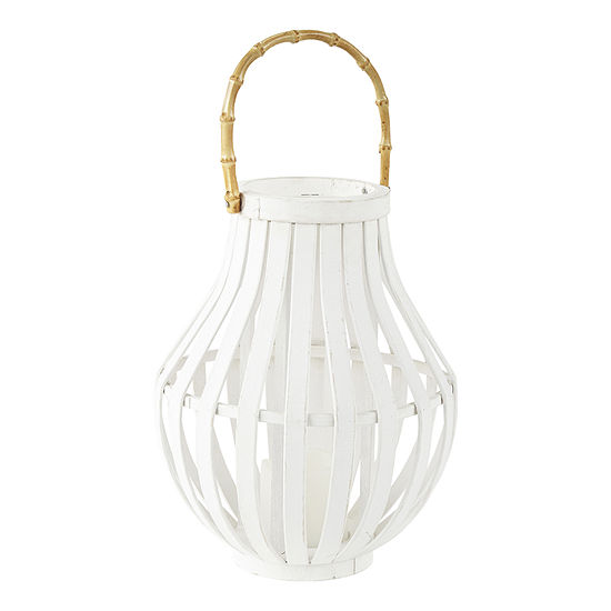 JCPenney Home White Bamboo Decorative Lantern