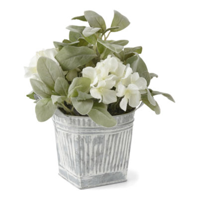 JCPenney Home Galvanized Greenery Pots Floral Arrangement