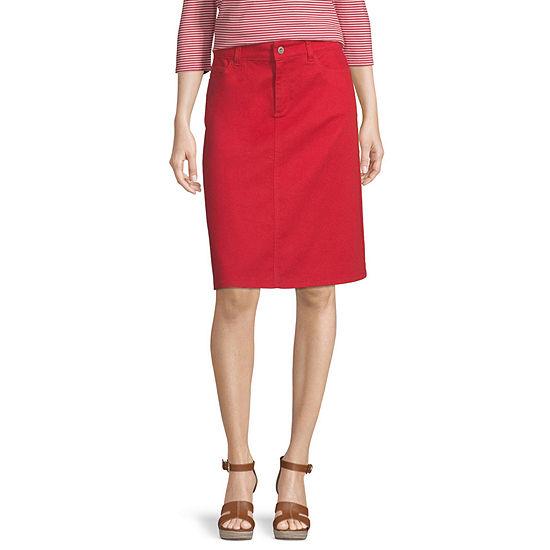 Liz Claiborne Simply Womens Denim Skirt