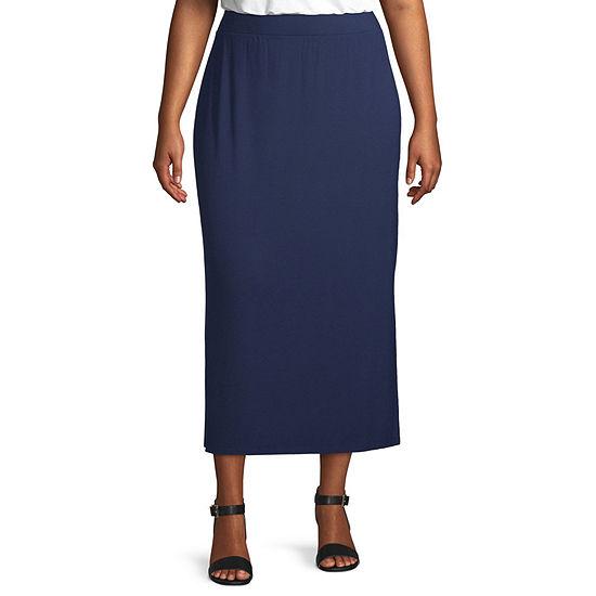 Liz Claiborne Ankle Pencil Skirt - Plus