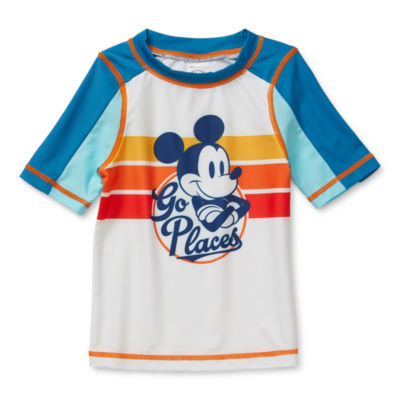Disney Collection Little & Big Boys Mickey Mouse Rash Guard