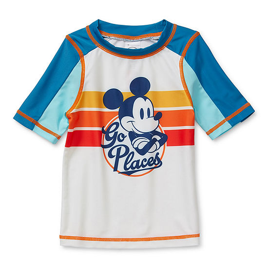 Disney Collection Little & Big Boys Mickey Mouse Rash Guard