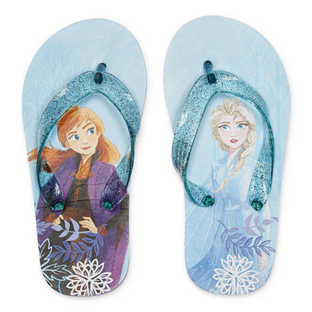 Disney Collection Frozen Flip-Flops, 2-3 , Blue