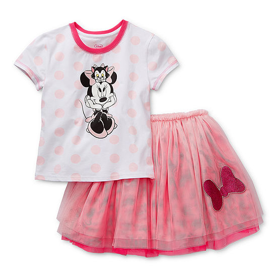 Disney Collection Little & Big Girls 2-pc. Minnie Mouse Skirt Set