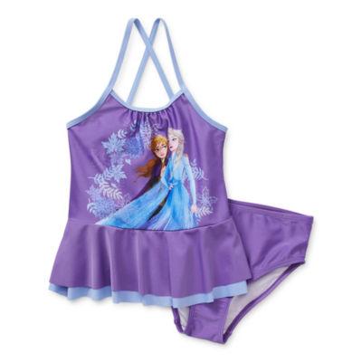 Disney Collection Little & Big Girls Frozen Tankini Set