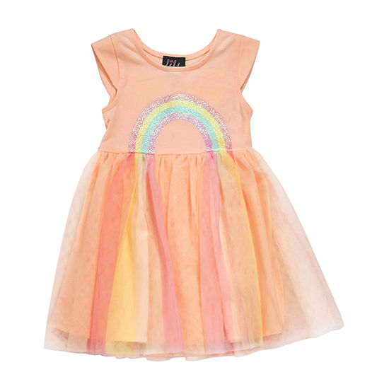 Lilt Toddler Girls Short Sleeve Tutu Dress