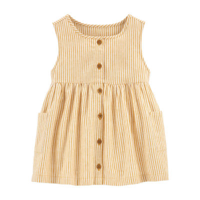 Carter's Little & Big Girls Round Neck Sleeveless Blouse