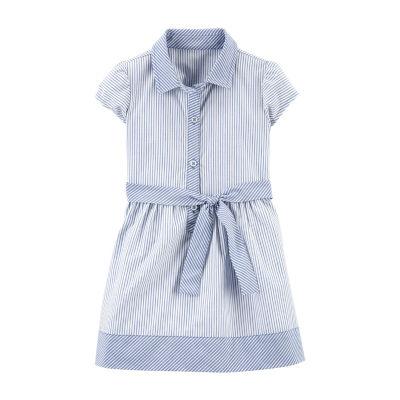 Carter's Toddler Girls Short Sleeve Shirt Dress