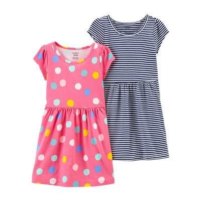 Carter's Toddler Girls 2-pc. Short Sleeve Fitted Sleeve A-Line Dress