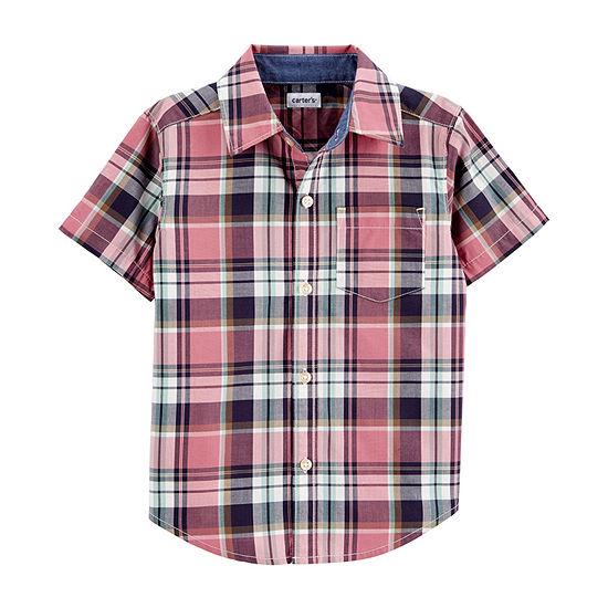 Carter's Toddler Boys Short Sleeve Button-Down Shirt