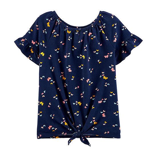 Carter's Little & Big Girls Round Neck Short Sleeve T-Shirt