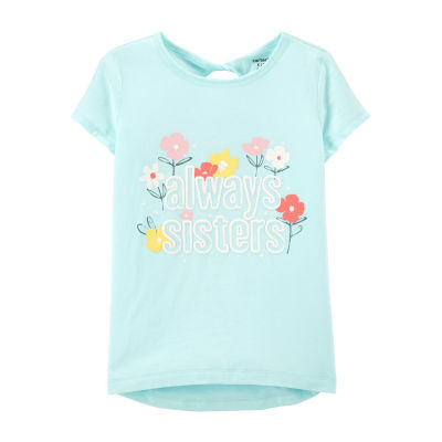 Carter's Little & Big Girls Round Neck Short Sleeve Graphic T-Shirt