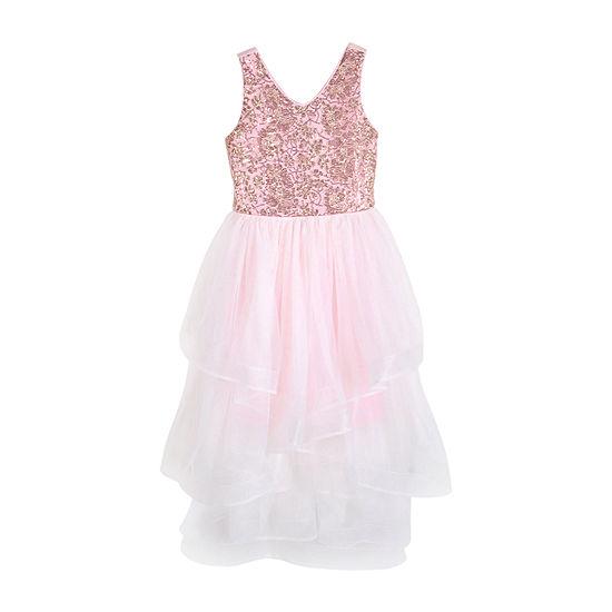 Lilt Big Girls Sleeveless Maxi Dress