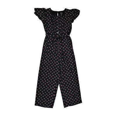 Lilt Little & Big Girls Short Sleeve Jumpsuit