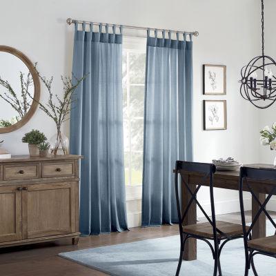 Linden Street Naturals 3-Ways To Hang Light-Filtering Rod Pocket Back Tab Single Curtain Panel