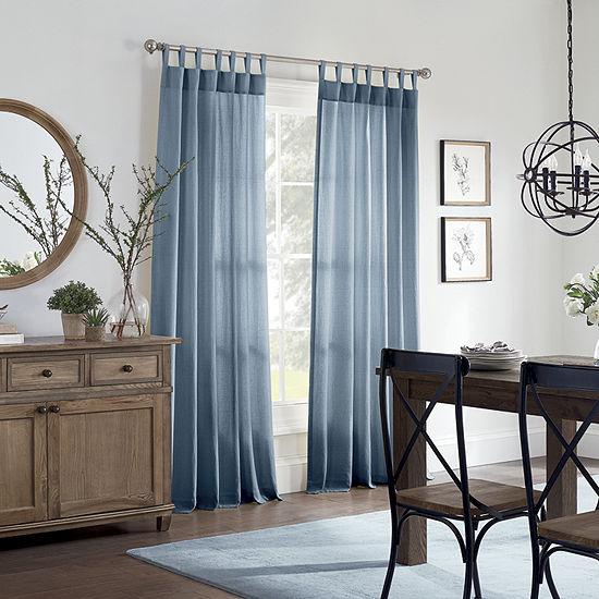 Linden Street Naturals 3-Ways To Hang Light-Filtering Rod-Pocket Single Curtain Panel