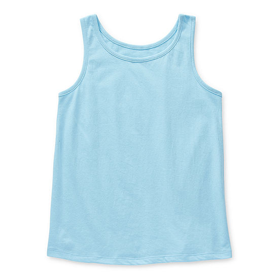 Arizona Little & Big Girls Round Neck Tank Top