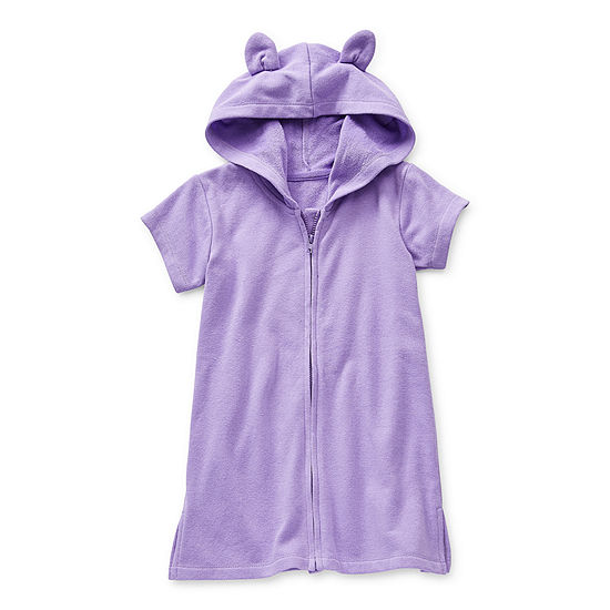 Okie Dokie Toddler Girls Swimsuit Cover-Up Dress