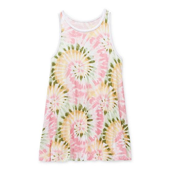 Arizona Little & Big Girls Tie Dye Swimsuit Cover-Up Dress