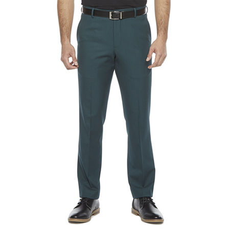 JF J.Ferrar 360 Mens Stretch Super Slim Fit Suit Pants, 38 30, Green