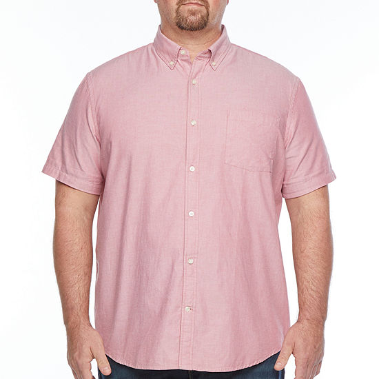 The Foundry Big & Tall Supply Co. Mens Short Sleeve Cotton Button-Down Shirt