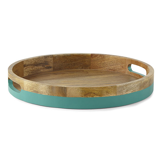 Outdoor Oasis Wood Serving Tray