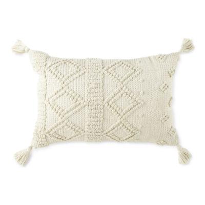 Linden Street Nubby Diamond Oblong Throw Pillow