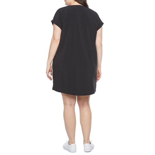 Stylus-Plus Short Sleeve Shift Dress