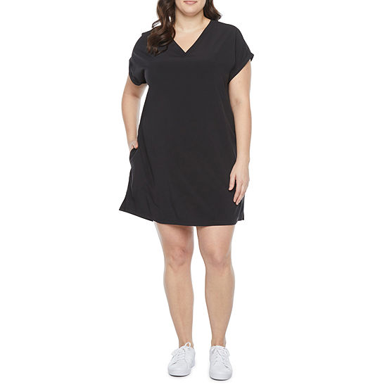 Stylus Plus Short Sleeve Shift Dress