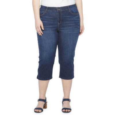 Liz Claiborne Flexi Fit Crop - Plus
