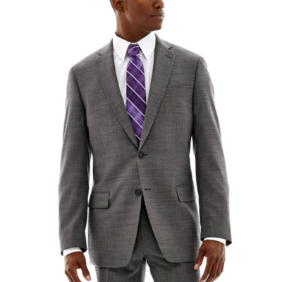 Claiborne® Black & White Nailhead Stretch Suit Jacket - Classic Fit