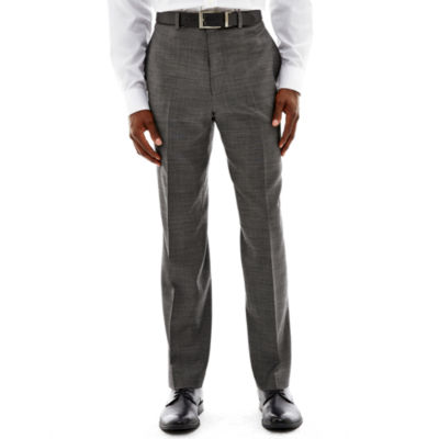 Claiborne® Black & White Nailhead Flat-Front Suit Pants - Classic Fit