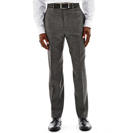 Claiborne® Black & White Nailhead Flat-Front Stretch Suit Pants - Classic Fit