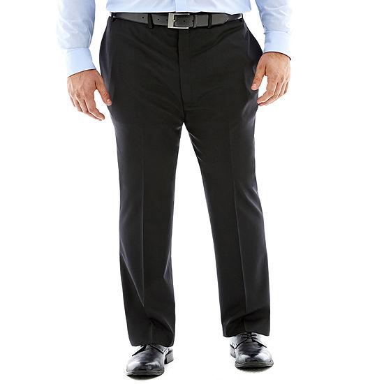 Claiborne® Black Flat-Front Suit Pants - Big & Tall