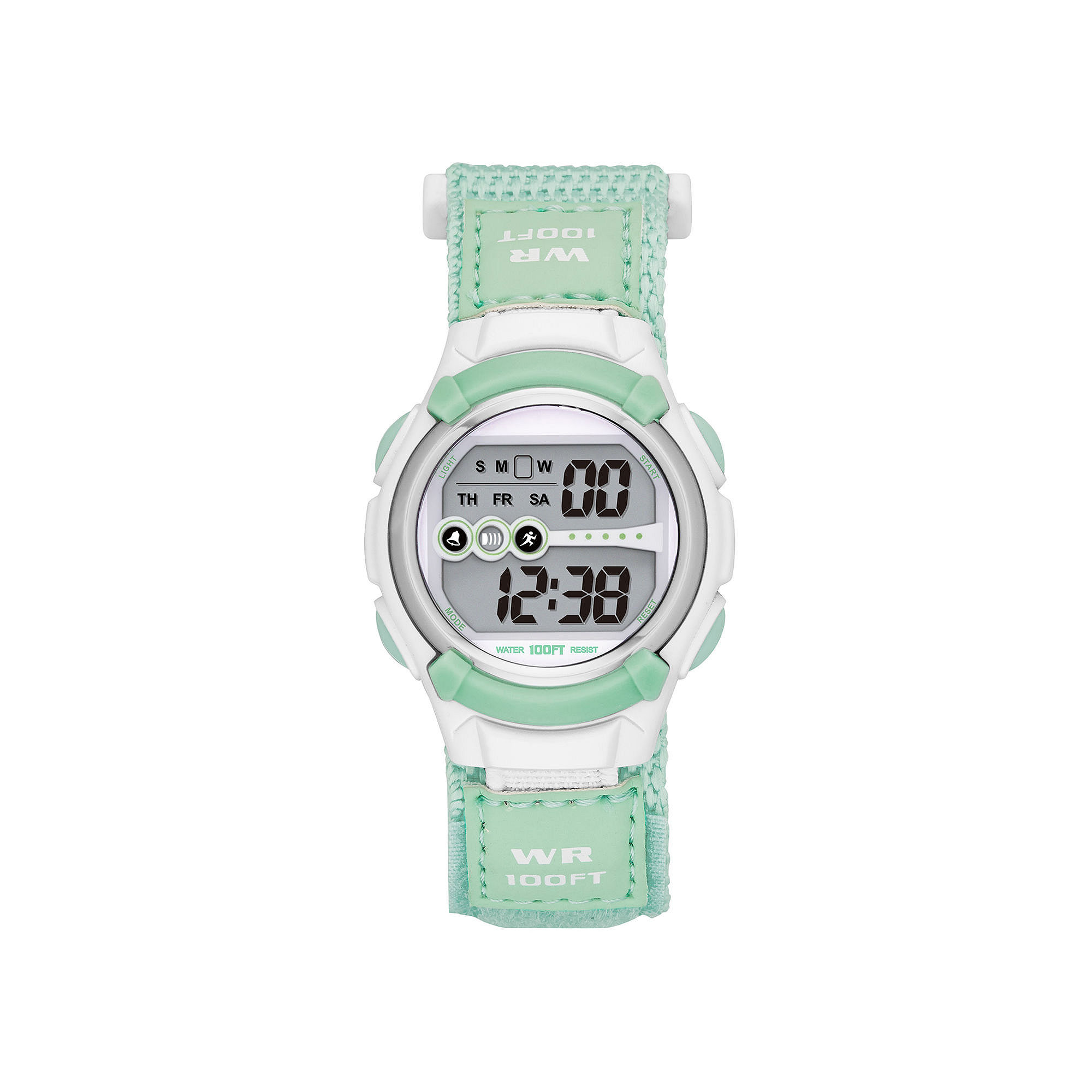 Womens Nylon Strap Digital Sport Watch