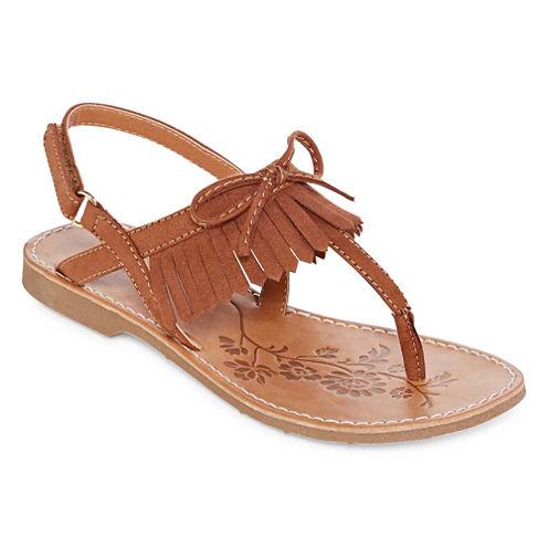 Arizona Calla Girls Flat Sandals - Little Kids
