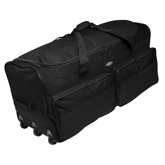 """Travelers Club 36"""" Collapsible Rolling Duffel"""