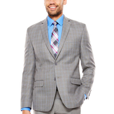 Collection by Michael Strahan  Classic Fit Plaid Sport Coat
