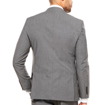 JF Texture Stretch Charcoal Jacket Slim