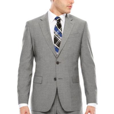 JF Texture Stretch Gray Jacket Slim