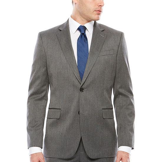 J.Ferrar Stretch Dark Gray Birdseye Slim Fit Jacket