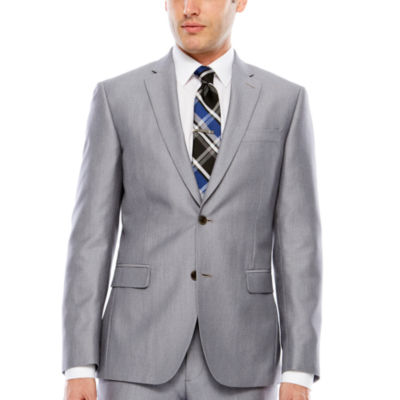 JF J.Ferrar Pin Dot Slim Fit Suit Jacket-Slim