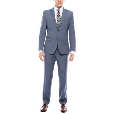 jcpenney.com | JF J. Ferrar Stretch Micro Texture Light Blue Suit Separates- Slim Fit