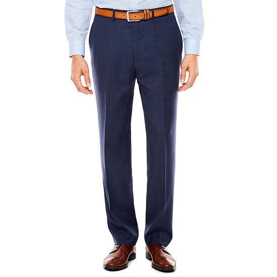 Claiborne Plaid Slim Fit Stretch Suit Pants